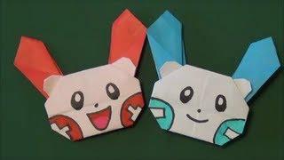 ポケモン「プラスル・マイナン」折り紙Pokemon