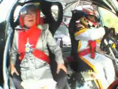 A lap with Grandma in Jordi Gené's Seat Leon Supercup racecar