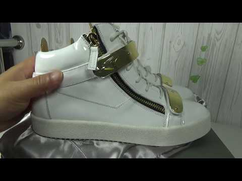 Giuseppe Zanotti White Mid-Top Men Sneaker Unboxing And Review By Lordkicks_roy