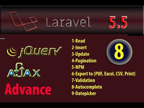 Laravel 5.5 advance autocomplete search jquery-ui part 8
