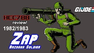 HCC788 - 1982 ZAP - Bazooka Soldier - Vintage G.I. Joe toy review!
