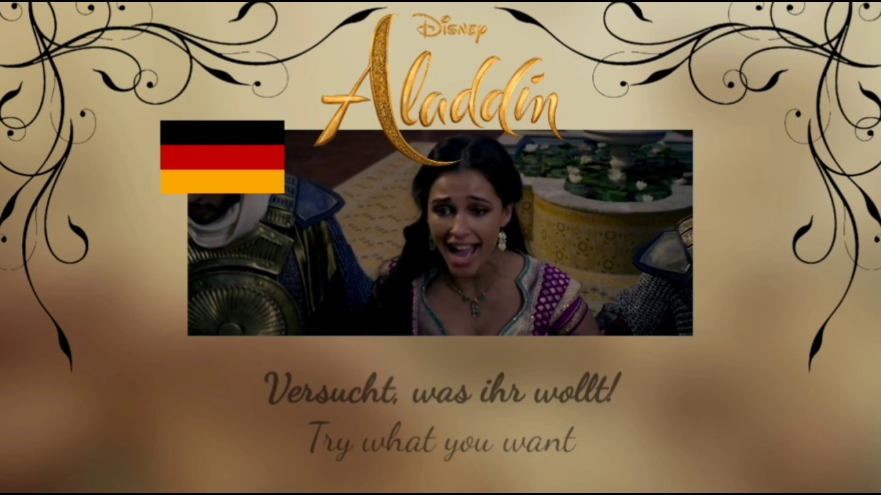 Aladdin 2019 - Speechless (German) | S+T