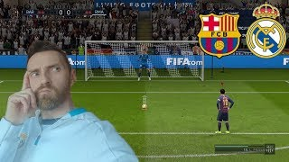 FIFA 19 KARNE CHALLENGE FC BARCELONA VS REAL MADRYT PUCHAR KRÓLA*piękna parada bramkarzy*