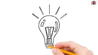 bulb drawing draw easy simple step drawings bulbs tutorial beginners paintingvalley getdrawings