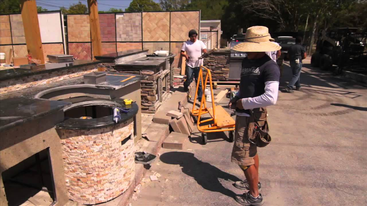 How to build outdoor kitchen - YouTube