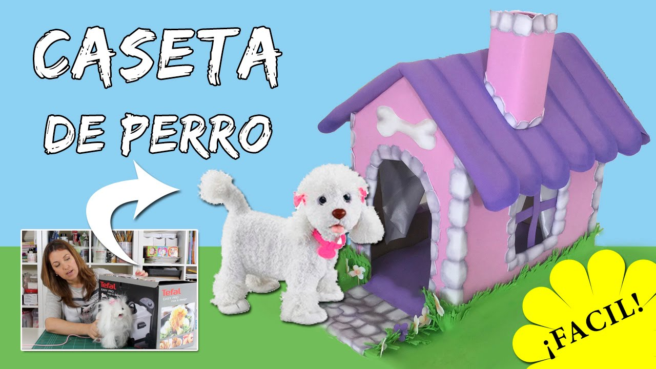 Caseta de perro con caja de cart n tutorial de reciclaje youtube - Como hacer una casita para perros ...