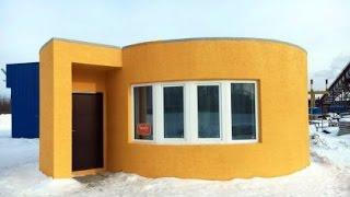 Minha casa minha vida! Casa foi impressa em 3D em apenas 24 horas. [ Impressora de 1 eixo ]