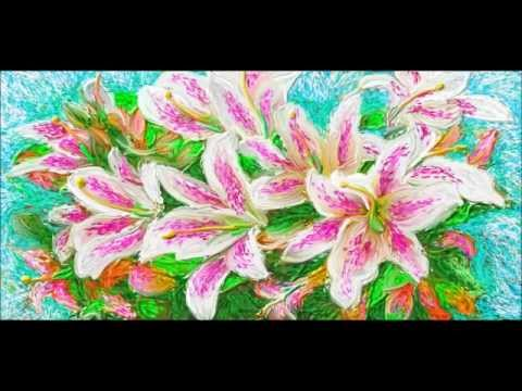 Hidden Mountain painting and song ~ Lilies 3 5 2015