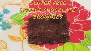 Double Chocolate Brownies ~ Gluten Free ~ Moist Old Fashioned Brownies