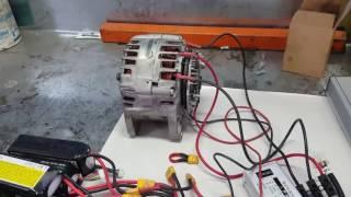 Test controleur brushless 3000w avec alternateur.