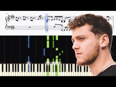 Bazzi - Mine - Piano Tutorial + SHEETS
