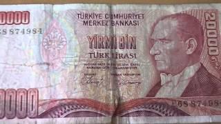 20.000 Lira von der Türkei - Yirmi Bin Türk Lirasi 1970
