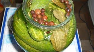 Маринованные огурцы с семенами горчицы. Заготовки на зиму