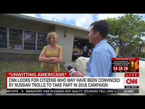 Woman confronted in front yard by CNN about Trump event she promoted at Russians' behest