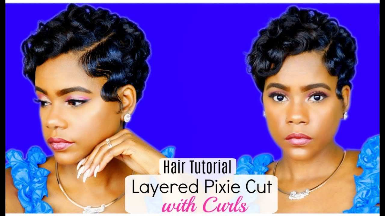 How I Style My Layered Pixie Cut W Curls At Home Relaxed Short