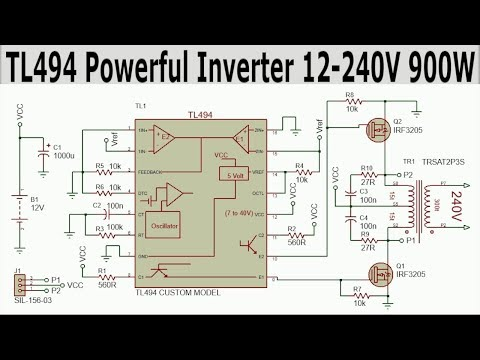 Powerful Inverter with TL494 | 12-240V 900W - ElectroBUFF - Video