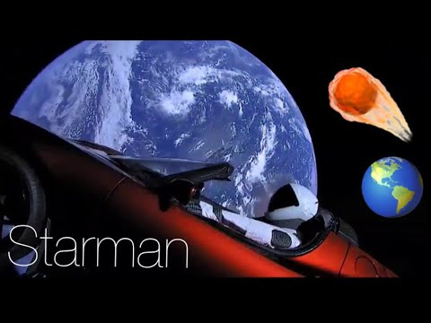 Starman Driving Tesla Roadster To Mars In Space Footage