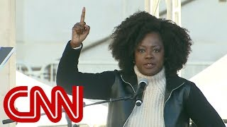 Viola Davis speaks at Women's March
