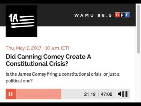 1A: Did Canning Comey Create A Constitutional Crisis?