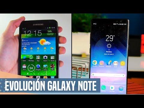 La evolución de la GAMA NOTE,  del Note 1 al Note 8