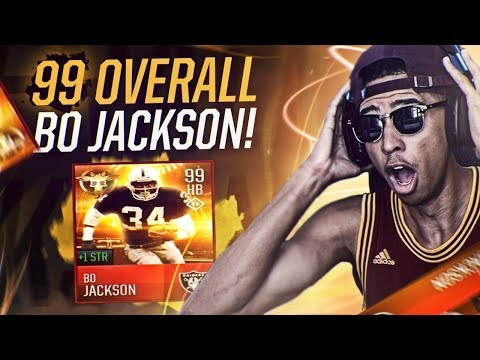 99 OVERALL BO JACKSON! LEAGUE GAME WINNING TOUCHDOWN! Madden Mobile 18 Gameplay