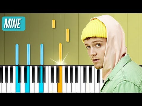 """Bazzi - """"Mine"""" Piano Tutorial - Chords - How To Play - Cover"""