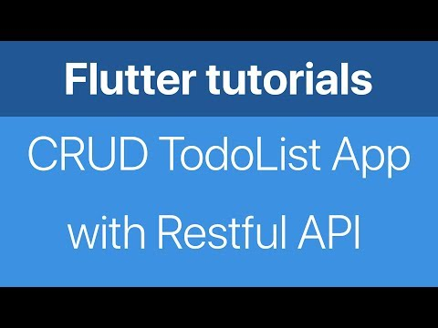 21-Make a CRUD TodoList app with networking Restful API in