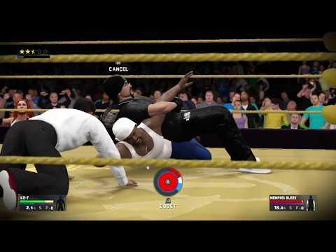 Def Jam 2K17 - Ice-T vs Memphis Bleek - The Barge - Brock Lesnar Attacks
