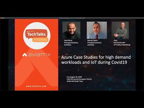 TechTalk | Azure Case Studies for high demand workloads and IoT during Covid19
