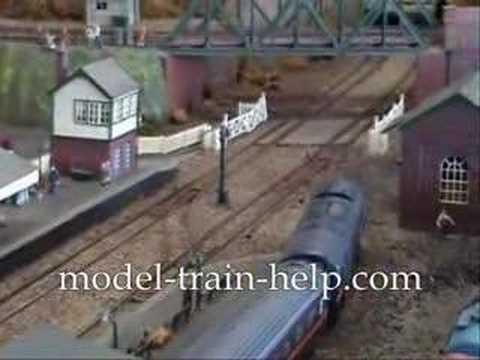 British Model Trains On Model Railway Layout