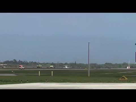 Yelvington Jet Aviation provided this video of plane making no gear landing.