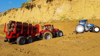 BRUDER RC tractors stuck in the mud