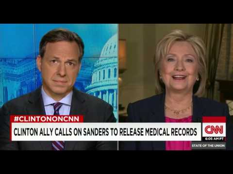 Clinton Defends Ally's Stunt Calling For Sanders' Medical Records