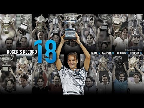 Roger Federer 18 Grand Slam Titles Tribute 2017