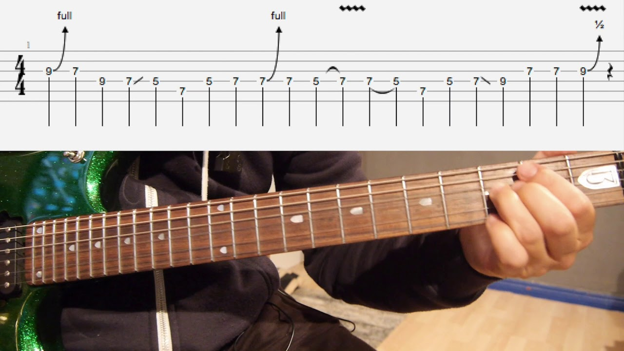 Rock On Pichle Saat Dino Mein Guitar Lesson With Tabs Youtube