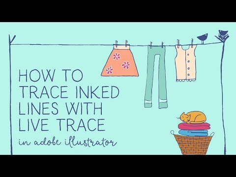 How to Trace Inked Lines with Live Trace in Illustrator