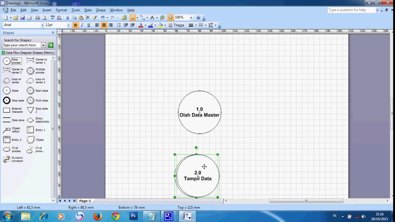 Cara membuat dfd dengan menggunakan visio youtube cara membuat dfd dengan menggunakan visio ccuart Gallery