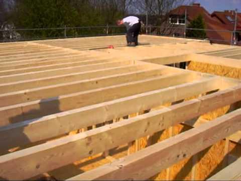 Bau Eines Holzhauses In Energieeffizienter Holzrahmenbauweise