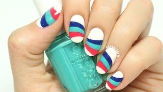 Wavy Striped Nail Art