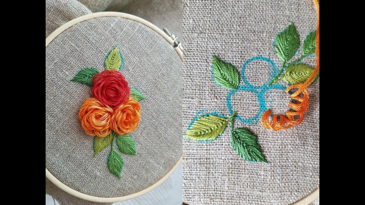 step by step embroidery flower hand embroidery design stitch work flower