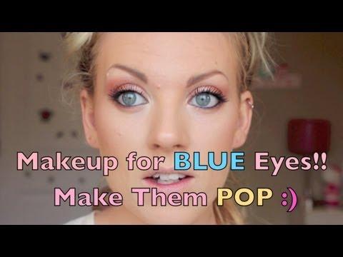 Makeup for BLUE Eyes-Make Your Blue Eyes POP