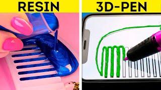 3D-PEN VS. RESIN || Epic Battle Of Colorful DIY Accessories, Jewelry And Repair Tricks