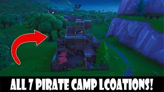 ALL PIRATE CAMPS FORTNITE - 7 LOCATIONS SEASON 8