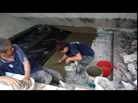 CCB反應氈黏結型高分子溼鋪防水卷施工
