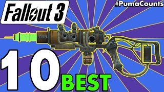 Top 10 Best Guns and Weapons in Fallout 3 (Including DLC) #PumaCounts