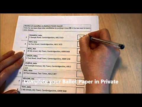 How to Complete a Postal Vote