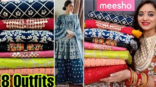 Meesho Dress material Haul Meesho Dress Material Review Meesho Partywear Gown Haul Meesho Haul