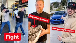 Download Damon FIGHTS Dave's BEST-FRIEND... Tire Slayer Prototype Nikes... WHO owns the R34 GTR???