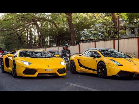 Yellow DMC Lamborghini duo running wild in Bangalore!