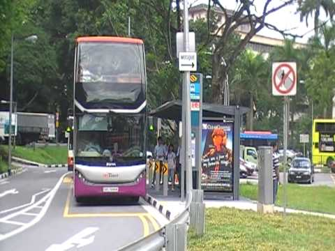 SBS Transit Scania K310UD [SBS7888K] departing Shenton Way Bus Terminal